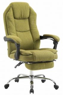 Chefsessel grün Stoff 130 kg belastbar Bürostuhl Schreibtischstuhl stabil robust