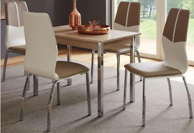 4 x Esszimmerstühle Kunstleder Cappuccino Stuhlset Küchenstühle modern design