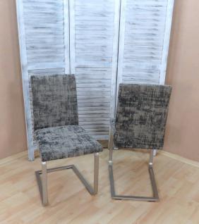 2er Set Freischwinger graphit Schwingstuhl Stuhlset Metallgestell modern design