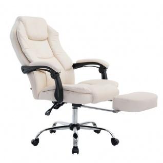 Chefsessel creme Kunstleder 130 kg belastbar Bürostuhl Schreibtischstuhl stabil