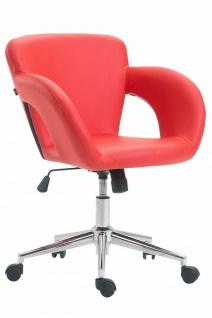 Bürostuhl rot 136 kg belastbar Kunstleder Drehstuhl modern design stylisch NEU