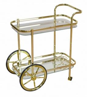 Servierwagen in Messingfarben Teewagen Dessert Beistellwagen Küchenwagen