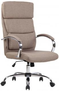 Bürostuhl taupe Stoffbezug Chefsessel Drehstuhl Schreibtischstuhl Computerstuhl