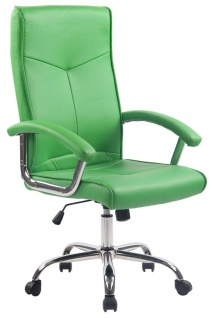 Bürostuhl grün Kunstleder Chefsessel Schreibtischstuhl stabil günstig belastbar