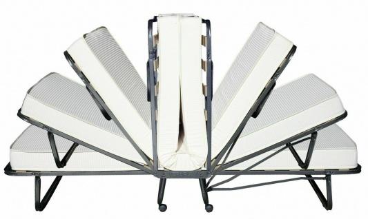 Klappbett Gästebett mit Aufstellautomatik 90x200cm inklusive Latexschaummatratze