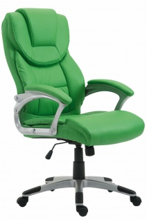 XL Schreibtischstuhl grün Kunstleder 180kg belastbar Computerstuhl Drehstuhl