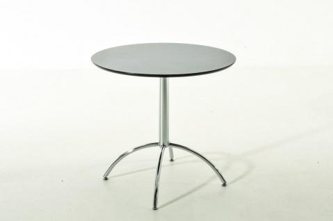 moderner Esstisch schwarz rund Küchentisch Esszimmertisch Tisch design verchromt
