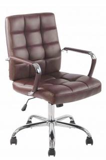 Bürostuhl 120 kg belastbar Kunstleder bordeauxrot Drehstuhl modern design stabil