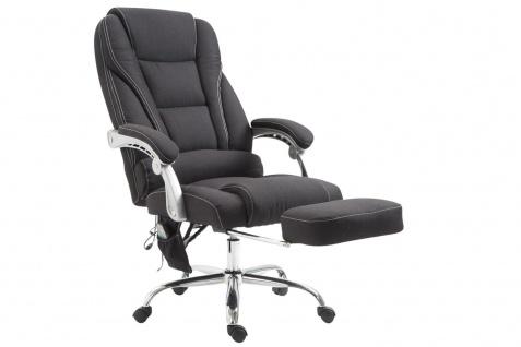 XXL Bürostuhl 150 kg belastbar schwarz Stoffbezug Chefsessel Massagefunktion - Vorschau 2