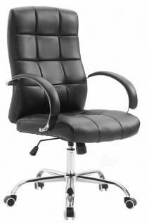 Bürostuhl 120 kg belastbar Kunstleder schwarz Chefsessel hochwertig klassisch