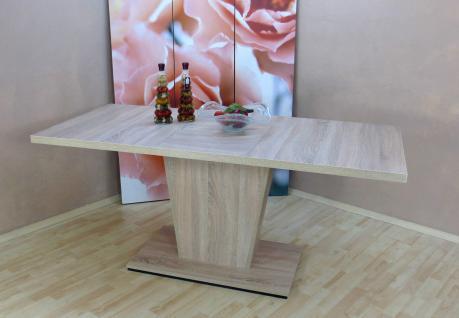 Säulentisch Sonoma Eiche Auszugtisch Esstisch Esszimmertisch Tisch ausziehbar