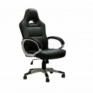 Racing Bürostuhl schwarz 150 kg belastbar Chefsessel Drehstuhl stabil robust
