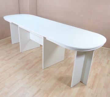 Kulissentisch oval weiß Auszugtisch Esstisch Esszimmertisch ausziehbar Auszug