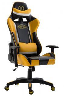 XL Bürostuhl schwarz gelb Kunstleder Bürostuhl modern design hochwertig Gamer