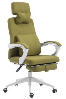 Bürostuhl Stoff grün klassisch Chefsessel mit Fußablage hochwertig modern design