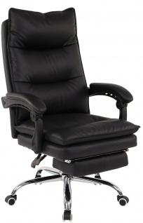 XL Bürostuhl 136 kg belastbar schwarz Kunstleder Chefsessel Computerstuhl neu