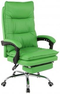 XL Bürostuhl 136 kg belastbar grün Kunstleder Chefsessel Drehstuhl stabil robust