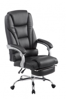 XL Bürostuhl 150kg belastbar schwarz Kunstleder Chefsessel modern design günstig