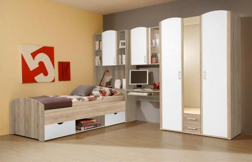 Jugendzimmer Sonoma Eiche Kinderzimmer Komplett Set Bett Schrank Schreibtisch