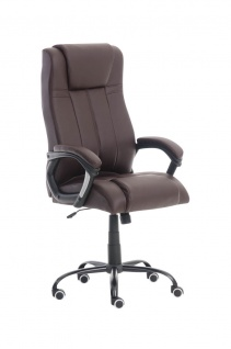 XXL Bürostuhl 150 kg belastbar braun Kunstleder Chefsessel schwere Personen - Vorschau 1