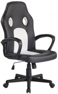 Bürostuhl 120kg belastbar schwarz weiß Chefsessel Drehstuhl günstig preiswert