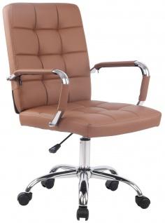 Bürostuhl 120 kg belastbar Kunstleder hellbraun Drehstuhl modern design stabil