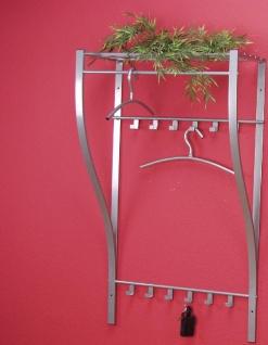 Wandgarderobe Garderobe Hakenleiste Stahl Ablage modern design günstig preiswert