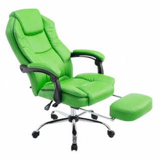 Chefsessel grün Kunstleder 130 kg belastbar Bürostuhl Schreibtischstuhl stabil
