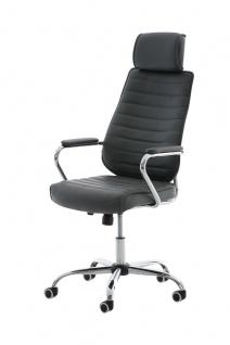 Bürostuhl 120kg belastbar Kunstleder grau Chefsessel hochwertig modern design