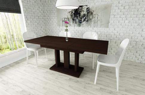 moderner Säulentisch Esstisch Ausziehbar edler Auszugtisch günstig preiswert neu