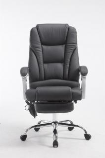 XXL Bürostuhl 150 kg belastbar schwarz Kunstleder Chefsessel Massagefunktion - Vorschau 2