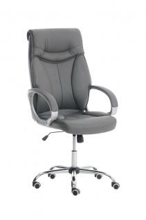 XL Bürostuhl 150kg belastbar grau Chefsessel Drehstuhl Schreibtischstuhl stabil