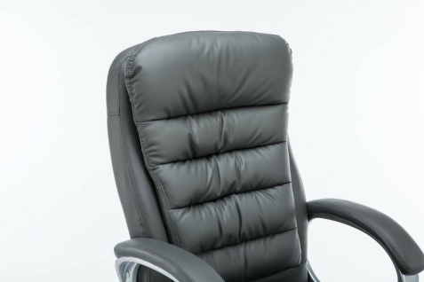 XXL Bürostuhl bis 235 kg belastbar Kunstleder grau Chefsessel schwere Personen - Vorschau 3
