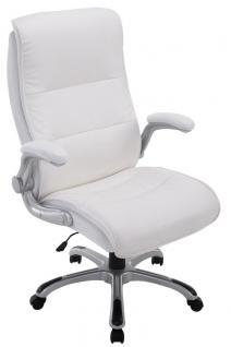 XXL Bürostuhl 150 kg weiß Kunstleder Chefsessel modern hochwertig günstig neu