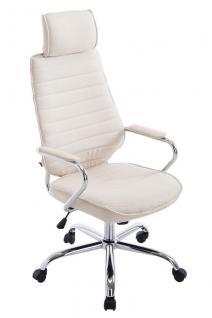 Chefsessel creme Stoff bis 120 kg Bürostuhl hochwertig Drehsessel modern design
