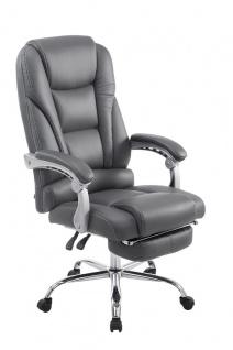 XL Bürostuhl 150kg belastbar grau Kunstleder Chefsessel modern design günstig