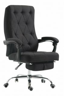 XL Chefsessel 136kg belastbar schwarz Stoffbezug Bürostuhl Fußablage modern