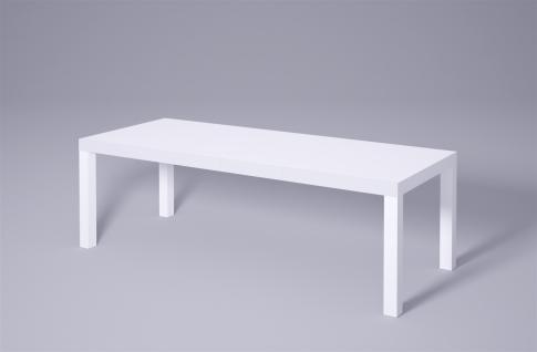 moderner Couchtisch Hochglanz weiß ausziehbar 100-160 Sofatisch design günstig