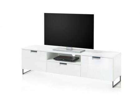 TV Lowboard Hochglanz weiß TV Board Kommode Schrank Fernsehschrank modern design