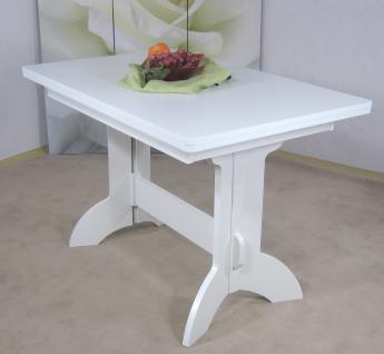 Auszugtisch weiß massivholz Esstisch Esszimmer Küche ausziehbar modern design