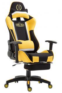 XL Chefsessel schwarz gelb Stoffbezug Bürostuhl modern design hochwertig stabil
