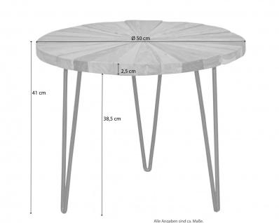 Beistelltisch rund massivholz / Altholz Couchtisch Sofatisch Wohnzimmertisch - Vorschau 4