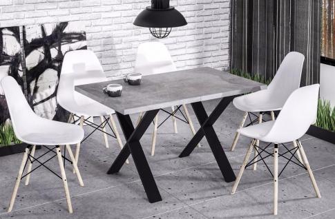 Esstisch metallgestell online bestellen bei yatego for Esszimmertisch modern design