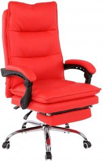 XL Bürostuhl 136 kg belastbar rot Kunstleder Chefsessel Computerstuhl Drehstuhl