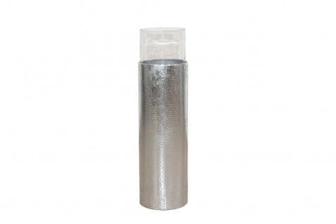 Bodenwindlicht Höhe 81 cm Antik-Silber Kerzenhalter Windlicht Kerzenständer