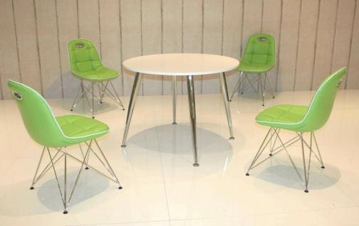 Tischgruppe mint / weiß Essgruppe Esszimmergruppe Schalenstuhl modern design B5