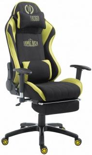 XL Bürostuhl 150kg belastbar schwarz grün Chefsessel Fußablage Gamer Zocker