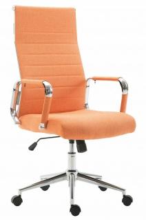 Bürostuhl bis 136 kg belastbar orange Stoffbezug Chefsessel modern design stabil