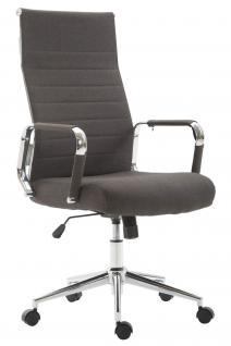 Chefsessel bis 136 belastbar dunkelgrau Stoff Bürostuhl modern design hochwertig