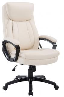 XXL Chefsessel bis 180 kg belastbar creme Bürostuhl modern design stabil robust